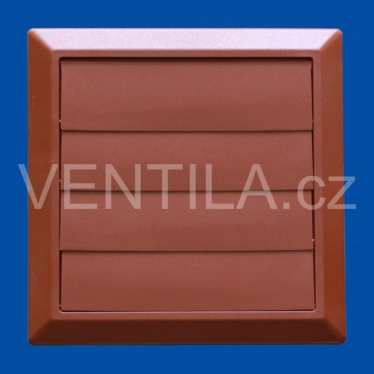Větrací žaluzie cihlová VP 150/200x200 HMZc