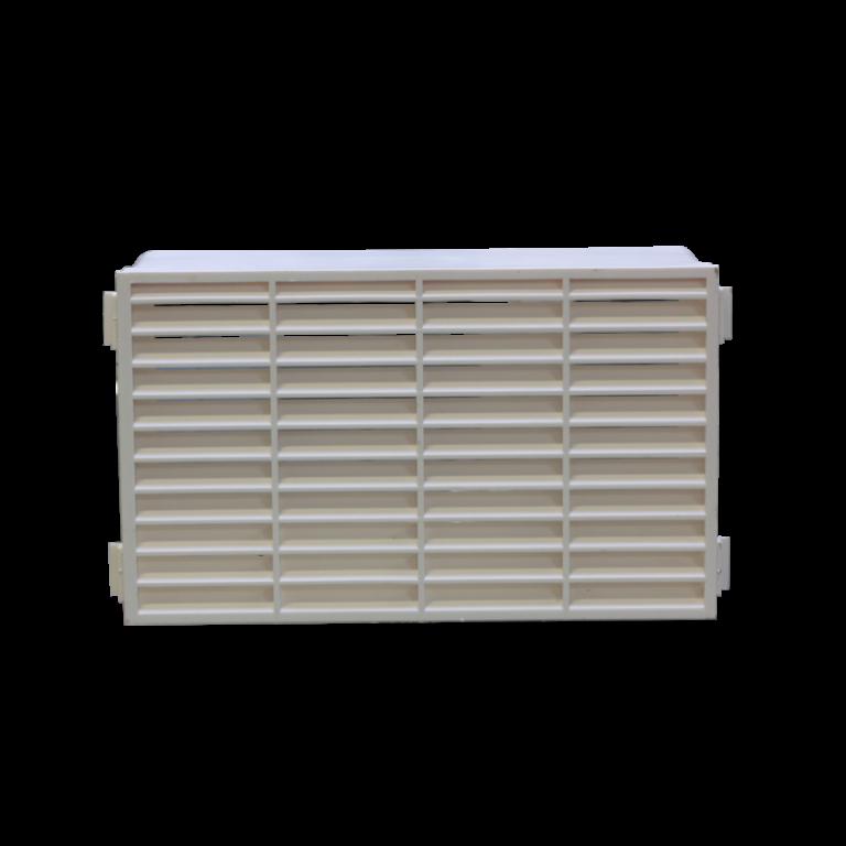 Větrací mřížka k plochému potrubí bílá VP 133x227 MPb